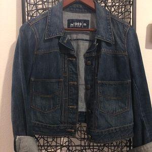 Gap crop blue jean jacket